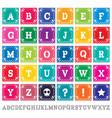 papel picado alphabet letters template set vector image