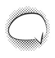 pop art speech bubble social media halftone style vector image vector image