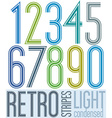 Poster retro light condensed colorful numbers with vector image vector image