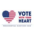 presidential election in usa november 3 poster vector image vector image