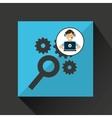 programer character development seo gear vector image