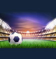 realistic football soccer stadium background vector image vector image