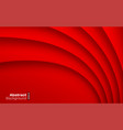red paper curve shadow background card vector image
