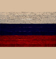 russian flag painted on wooden fence vector image