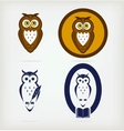 Set of wise owls vector image vector image