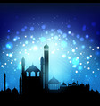 silhouette of mosques vector image vector image