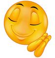 Sleeping smiley emoticon vector image