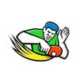 table tennis player blocking mascot vector image vector image