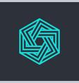 tech cube logo design template vector image