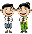 Thai kids vector image