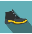 Tourist shoes flat icon vector image