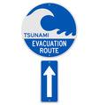 Tsunami Evacuation Route vector image vector image