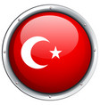 turkey flag on round frame vector image