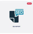 two color seo report icon from programming vector image vector image
