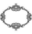 vintage baroque rococo frame rich imperial vector image