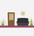 waiting room for patients in the office flat vector image