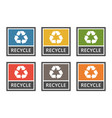 waste management labels set waste sorting for vector image vector image