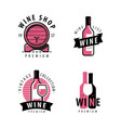 wine symbol or label winery restaurant drink vector image
