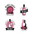 wine symbol or label winery restaurant drink vector image