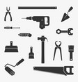 work tool character set vector image vector image