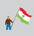 man holding indian flag vector image