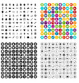 100 kettlebell icons set variant vector image vector image