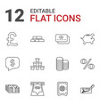 12 banking icons vector image vector image
