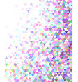 Abstract regular triangle mosaic background vector image vector image