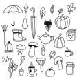 autumn doodle icons