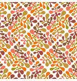 autumn seamless floral pattern vector image vector image