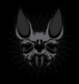 bat skull design vector image