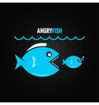 big fish concept design background vector image vector image