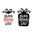 black friday sale lettering inscription vector image vector image