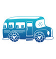 blue silhouette vehicle school bus education vector image