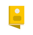 book icon flat style vector image