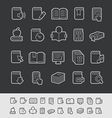 Books Icons Black Background vector image vector image