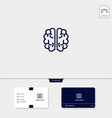 brain premium logo template for your business and vector image vector image
