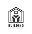 building construction house concept logo design vector image