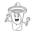 burrito and maraca coloring book vector image