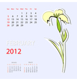 calendar for 2012 february vector image vector image