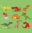 cartoon dinosaur tyrannosaurus rex vector image vector image