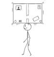 cartoon of man or businessman balancing big vector image