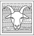 Chinese zodiac sign Goat vector image vector image