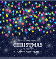 christmas background with light lamps garlands vector image vector image