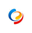 circle colorful swirl abstract logo vector image