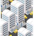 city street skyscrapers street vector image vector image