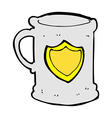 comic cartoon tankard vector image