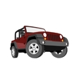 Convertible car off-road jeep SUV vector image