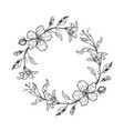 cute floral wreath with lilies and flowers vector image
