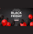 dark horizontal web banner for black friday sale vector image vector image